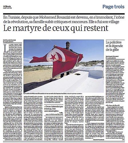 Tunisie - Sidi Bouzid - Bouazizi : Le Martyr de Ceux qui restent
