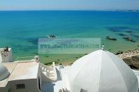 architecture;musulmane;medina;rempart;plage;hammamet;coupole;