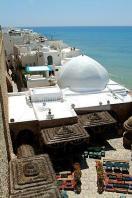 architecture;musulmane;medina;rempart;plage;hammamet;coupole;cafe;