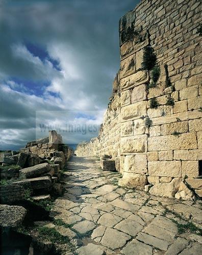 architecture antique;antiquite;romain;dougga;rue