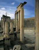 architecture-antique;antiquite;romain;dougga;theatre