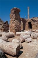carthage;thermes;romain;antiquité