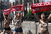 1ère action Femen en Tunisie