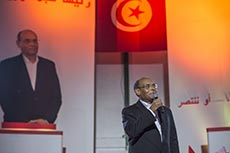 Meeting cloture Marzouki
