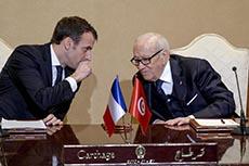 Visite Macron en Tunisie J1