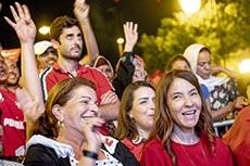 Meeting Karoui à Tunis