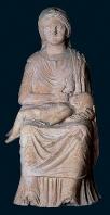 antiquite;nabeul;statue;statuette;thinissut;terre-cuite;sanctuaire;romain