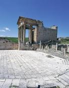 architecture-antique;antiquite;romain;dougga;capitole;temple;place