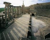 architecture-antique;antiquite;romain;dougga;theatre