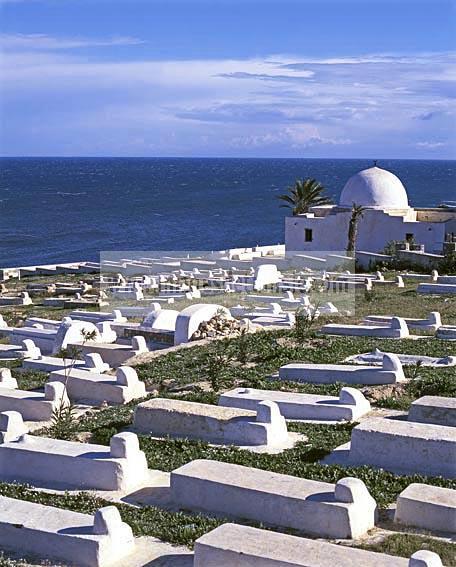 hergla;architecture;musulmane;cimetiere;mer;