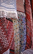 kairouan;medina;decoration;artisanat;rue;ruelle;tapis;tissage