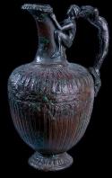 carthage;oenochoe;punique;musee;bronze;antiquité