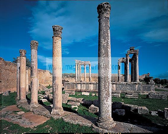 architecture;antique;antiquite;romain;dougga;temple;caelestis;