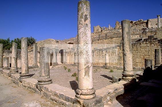 architecture;antique;antiquite;romain;dougga;villa;