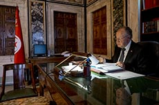 le Président de la Tunisie au Bardo