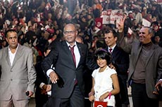Meeting Marzouki à Tunis