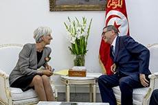 Visite de Christine Lagarde (FMI)