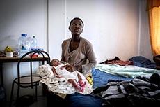 Centre de réfugiés de migrants