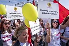 Manifestation pour l'égalité des sexes