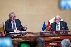 Viste Junker en Tunisie