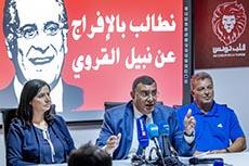 Conférence presse pour Karoui